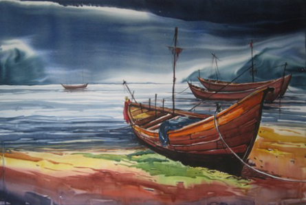 Landscape 3 | Painting by artist Abhijit Bhattacharya | watercolor | Paper