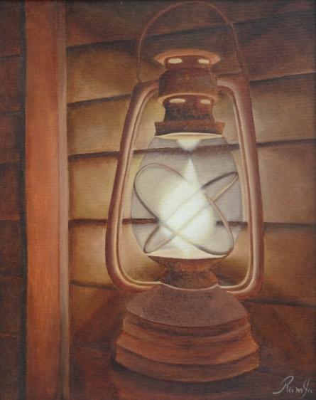 Lantern | Painting by artist Ramya Sadasivam | oil | Canvas