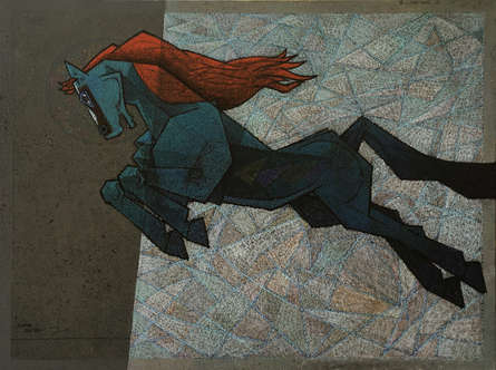 Animals Acrylic Art Painting title 'The Effeminate 2' by artist Dinkar Jadhav