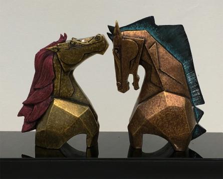 Fiberglass Sculpture titled 'Untitled 2' by artist Dinkar Jadhav