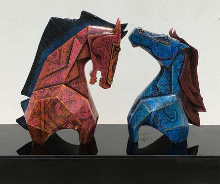 art, sculpture, fiberglass, animal, horse