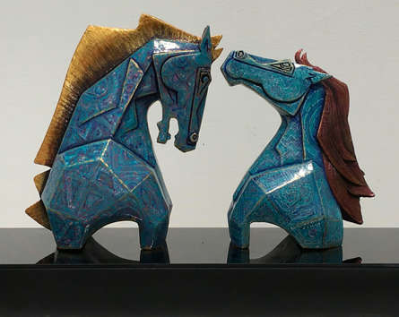Fiberglass Sculpture titled 'Untitled 4' by artist Dinkar Jadhav