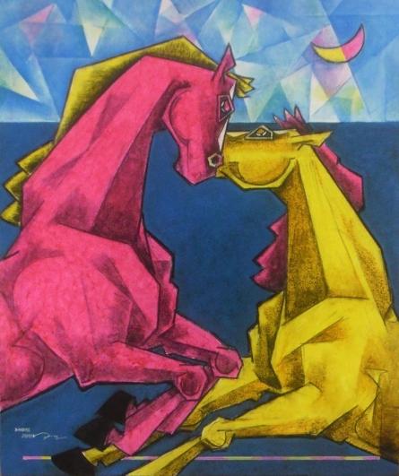 Waltzing In Dream - 5 | Painting by artist Dinkar Jadhav | acrylic | Canvas