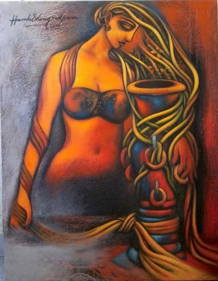 Fantasy Acrylic Art Painting title 'Love' by artist Hamlet Shougrakpam