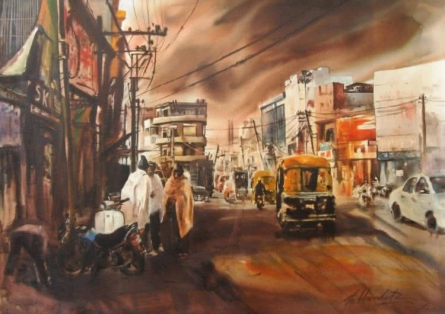 Untitled   Painting by artist Hamlet Shougrakpam   watercolor   Paper