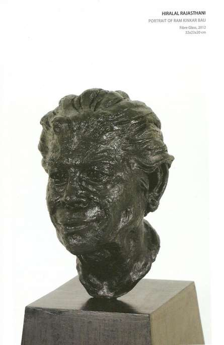 Fiber Glass Sculpture titled 'Portrait Of Ramkinkar Baij' by artist Hiralal Rajasthani