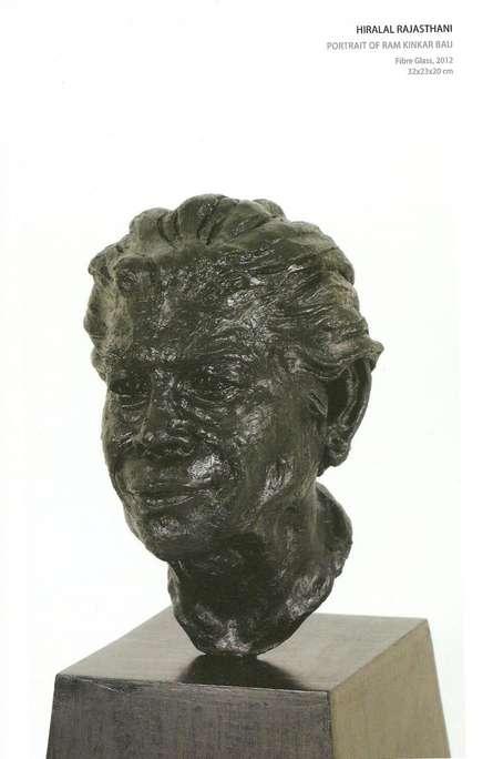 Portrait Of Ramkinkar Baij | Sculpture by artist Hiralal Rajasthani | Fiber Glass
