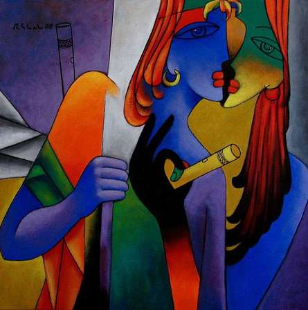 In Love | Painting by artist Rajesh Shah | acrylic | Canvas