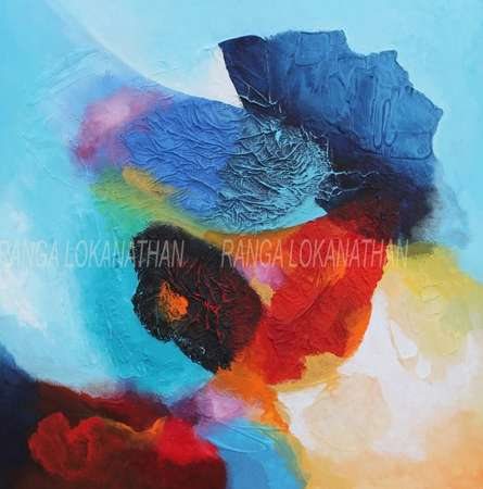 Ranga Naidu | Infinity Mixed media by artist Ranga Naidu on Canvas | ArtZolo.com