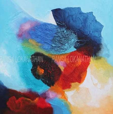 Infinity | Mixed_media by artist Ranga Naidu | Canvas