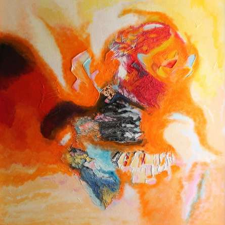 Ranga Naidu | Super Nova One Mixed media by artist Ranga Naidu on Canvas | ArtZolo.com