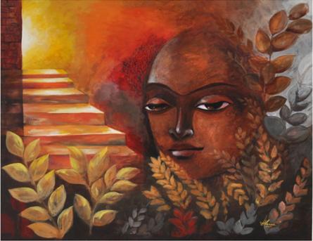 The Exaltation | Painting by artist Huma Hussain | acrylic | Canvas