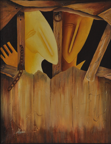 To Break Free | Painting by artist Huma Hussain | acrylic | Canvas