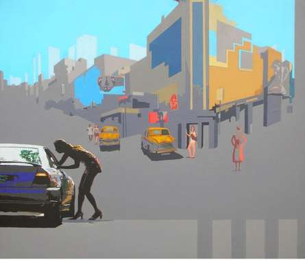 Neo Urban Space | Painting by artist Abhijit Paul | mixed-media | Canvas