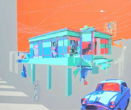 Urban Landscape 2 | Painting by artist Abhijit Paul | mixed-media | Canvas