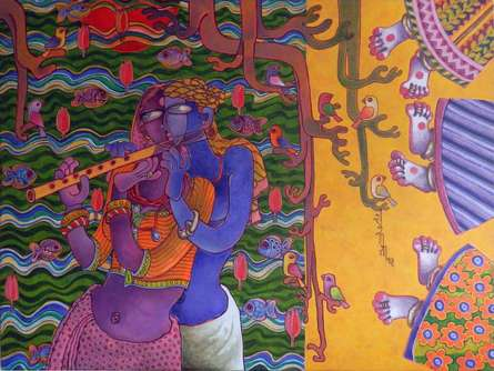 Love | Painting by artist Sunita Dinda | acrylic | Canvas