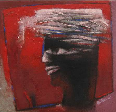Untitled-2 | Painting by artist Pradip Kumar Sau | acrylic | Canvas