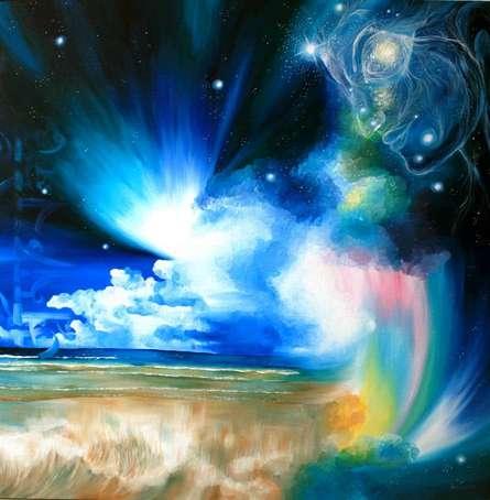 Divine Creation I | Painting by artist Drishti Vohra | acrylic | Canvas