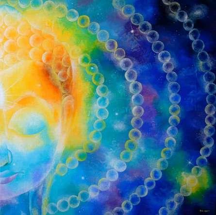 Divine Compassion I | Painting by artist Drishti Vohra | acrylic | Canvas
