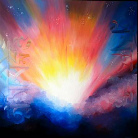 Divine Happiness | Painting by artist Drishti Vohra | acrylic | Canvas