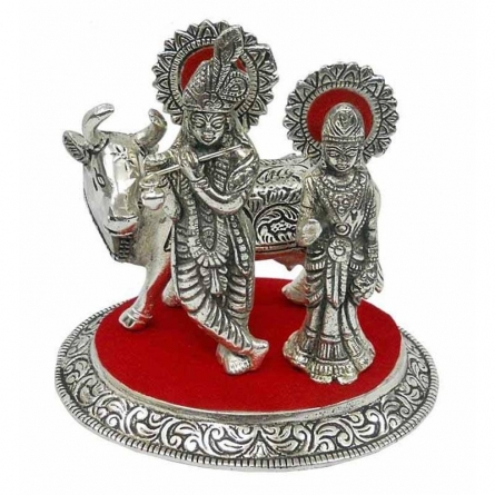 Art Street | Radha Krishna Cow Craft Craft by artist Art Street | Indian Handicraft | ArtZolo.com