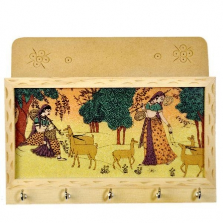 Art Street | Wooden Key Holder Craft Craft by artist Art Street | Indian Handicraft | ArtZolo.com