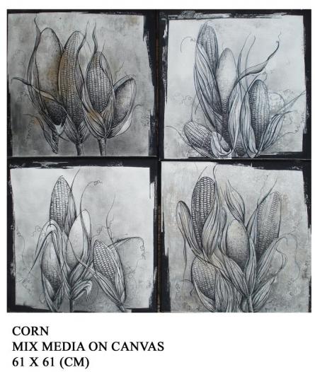 Corn | Drawing by artist Trapti Gupta | | pencil | Canvas