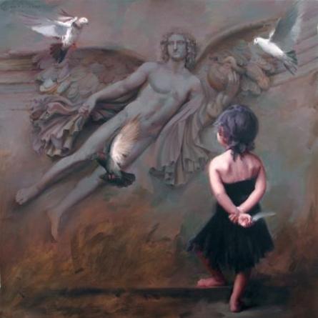 Pramod Kurlekar Paintings | Oil Painting - If by artist Pramod Kurlekar | ArtZolo.com