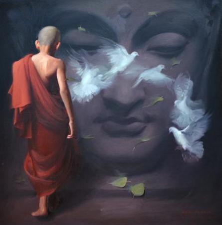 Ultimate Destination | Painting by artist Pramod Kurlekar | oil | Canvas