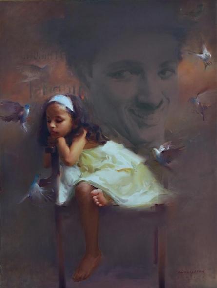 Charlie's Tweet | Painting by artist Pramod Kurlekar | oil | Canvas