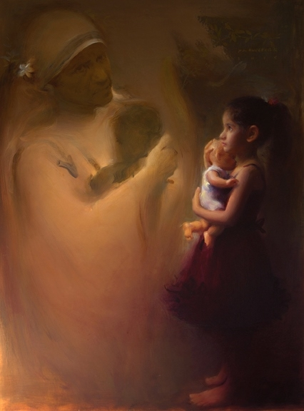 Beyond Womb | Painting by artist Pramod Kurlekar | oil | Canvas