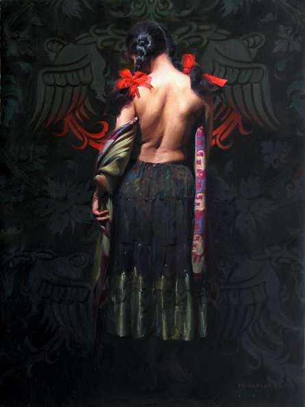 Figurative Watercolor Art Painting title Figure I by artist Pramod Kurlekar