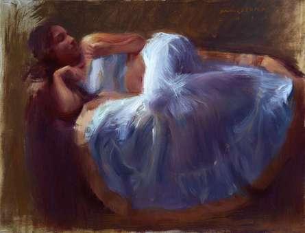 Figurative Oil Art Painting title 'Figure IV' by artist Pramod Kurlekar