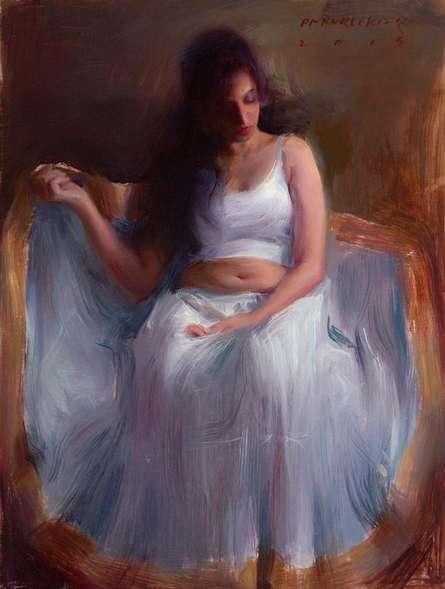 Pramod Kurlekar | Oil Painting title Figure VII on Canvas | Artist Pramod Kurlekar Gallery | ArtZolo.com