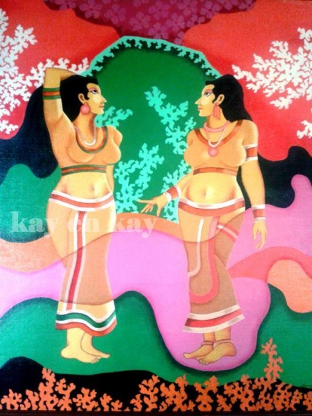 Women | Painting by artist Narayanankutty Kasthuril | acrylic | Canvas Board