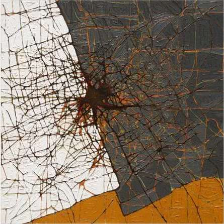 Abstract Acrylic Art Painting title Brown Abstract by artist Santanu Dhar