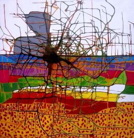 Holi1 | Painting by artist Santanu Dhar | acrylic | Canvas