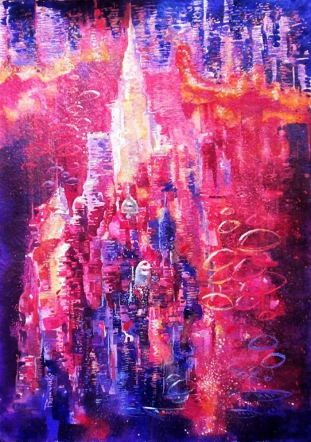 Banares - 1 | Painting by artist Priyanka Kaushal | watercolor | Paper