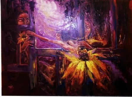 Frames 1 | Painting by artist Priyanka Kaushal | oil | Canvas