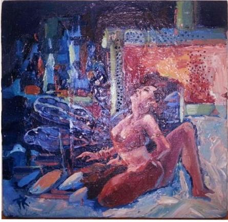 Frames 3   Painting by artist Priyanka Kaushal   oil   Canvas