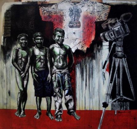 Photorealistic Acrylic Art Painting title 'King Of Kings' by artist Palash Halder