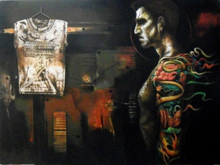 Fantasy Acrylic Art Painting title 'Multi Expose' by artist Palash Halder