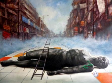 Ultimate Illusion | Painting by artist Palash Halder | acrylic | Canvas