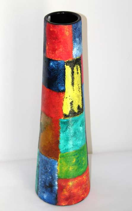 Akanksha Rastogi | Hand Painted Multi Color Vase Craft Craft by artist Akanksha Rastogi | Indian Handicraft | ArtZolo.com