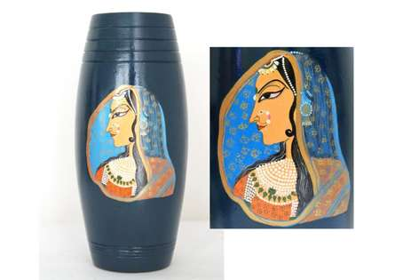 Akanksha Rastogi | Hand Painted Rani Vase Craft Craft by artist Akanksha Rastogi | Indian Handicraft | ArtZolo.com