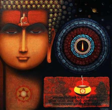 Gyan Bodh   Painting by artist Ajay Meshram   acrylic   Canvas