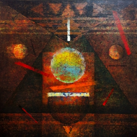 Abstract Acrylic Art Painting title 'Insight' by artist Ajay Meshram