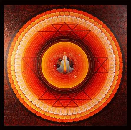 Om | Painting by artist Ajay Meshram | acrylic | Canvas