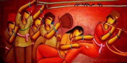 Rest | Painting by artist Samir Sarkar | acrylic | Canvas