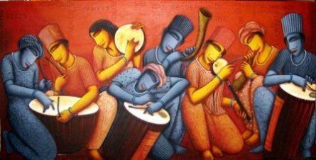 Sound 1   Painting by artist Samir Sarkar   acrylic   Canvas
